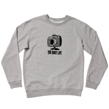 The Quiet Life Happy Camera Crewneck - Athletic Grey