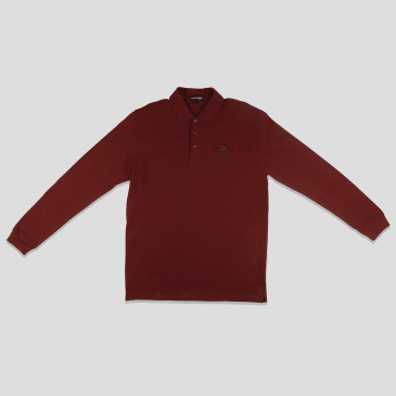 """PASS~PORT """"FULL TIME"""" L/S POLO MRN"""