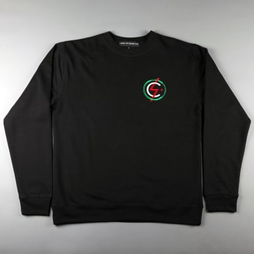 CSC Mod Embroidered Crew - Black / Amsterdam