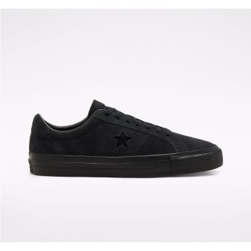 Converse Cons One Star Pro Suede Skate Shoes - Black / Black / Black
