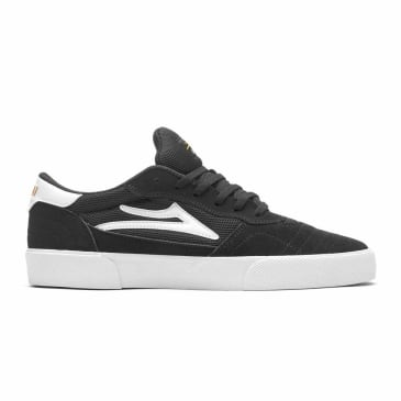 Lakai Cambridge Suede Skate Shoe - Black / White
