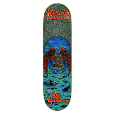 "Heroin Skateboards - 8.25"" Lee Yankou Hirotion Illusion Series Deck"