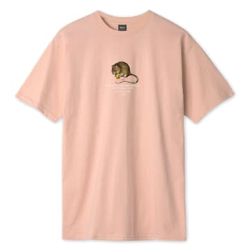 Huf - Rat Race S/S T-Shirt - Coral Pink