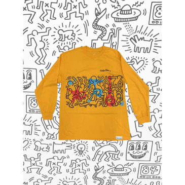 DIAMOND X HARING RHYTHM AND MOTION L/S TEE - YELLOW