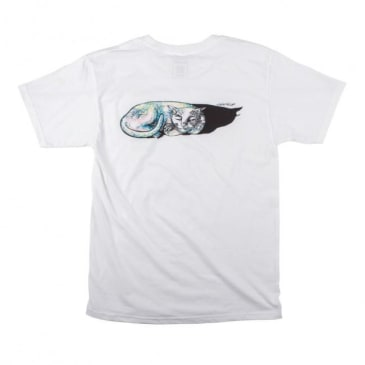 Welcome Skateboards Sleeping Cat T-Shirt - White