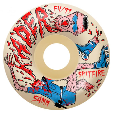 "Spitfire Formula Four ""Kader Neckface"" Radial Skateboard Wheels Natural 99DU 58mm"