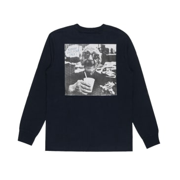 Reception - Nobody Long Sleeve T-Shirt - Navy