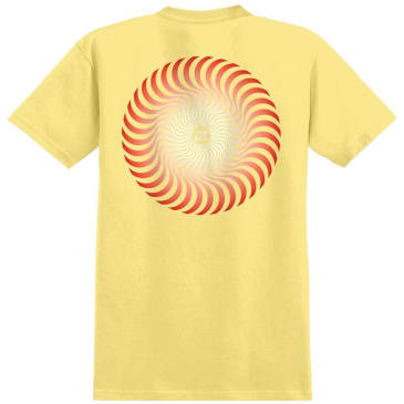 Spitfire Wheels Classic Swirl Fade T-Shirt - Banana