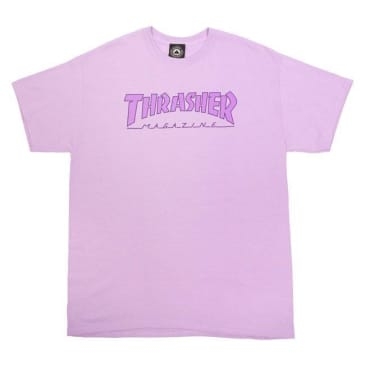 THRASHER Outlined Tee Orchid