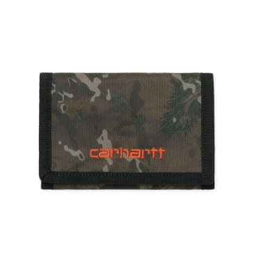 Carhartt WIP Payton Wallet - Camo/Safety Orange