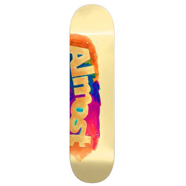 Almost Skateboards Side Smudge Resin Hybrid Cream Skateboard Deck - 8.25