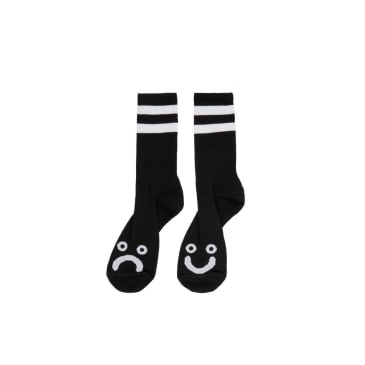 Polar Skate Co- Happy/ Sad Socks Black Small
