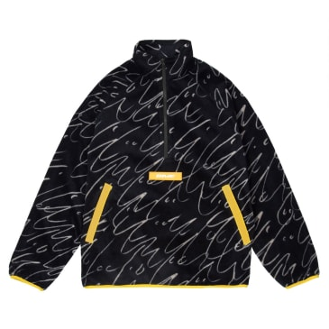 Dime Faces Quarter Zip Fleece - Black