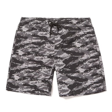 HUF F*** It Tiger Camo Easy Shorts - Black