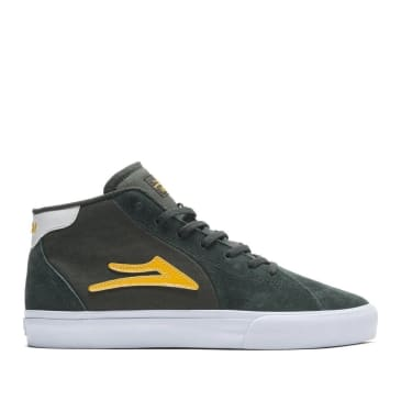 Lakai Flaco 2 Mid Suede Skate Shoes - Olive / Yellow