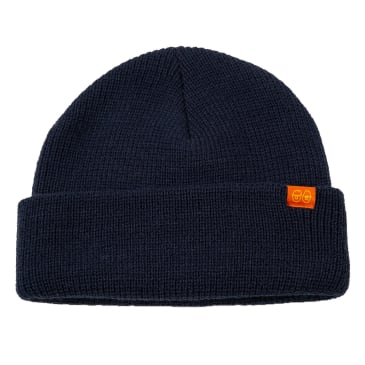 KROOKED Bean Eyes Cuff Beanie Navy