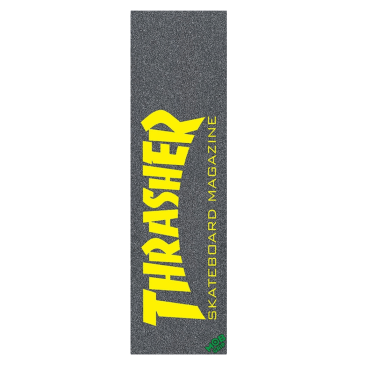Mob Thrasher Magazine Black / Yellow Skateboard Griptape - 9""