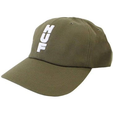 HUF Stacked Curved Visor 6-Panel Hat - Dried Herb