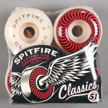 Spitfire 'Classic' 51mm 99D Wheels (White)