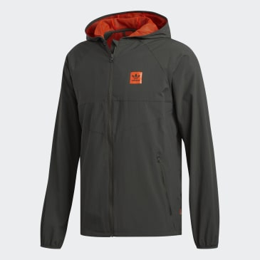 adidas Dekum Packable Wind Jacket - Legend Earth/Active Orange