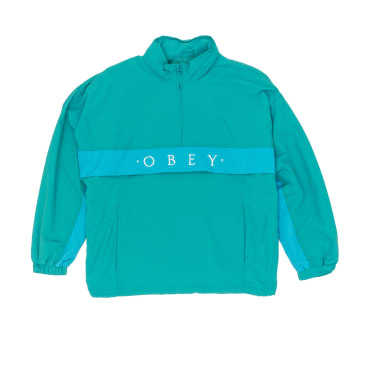 Obey Title Anorak Jacket - Blue/Green