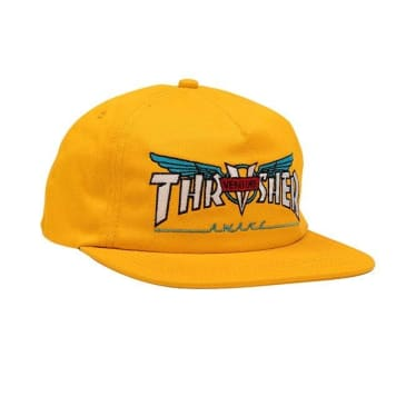 Thrasher Venture Collab Snapback Hat - Gold