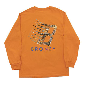 Bronze 56K B Logo Buck Hunter Tree Long Sleeve T-Shirt - Orange