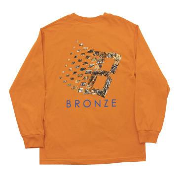 Bronze 56K B Logo Buck Hunter Tree Long Sleeve T-Shirt - Orange