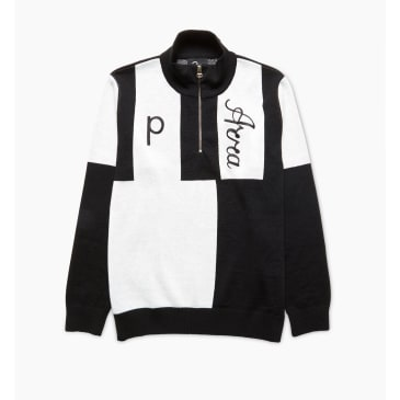 by Parra - quarter zip knitted pullover