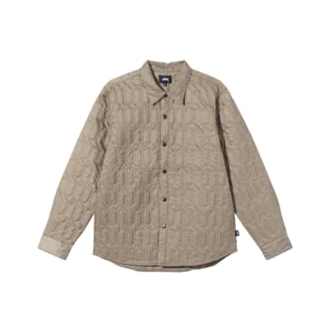 Stüssy - Quilted Insulated L/S Shirt - Beige