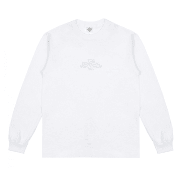 The National Skateboard Co. Classic Logo Long Sleeve T-Shirt - White