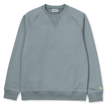 Carhartt WIP Chase Sweat - Cloudy /Gold