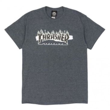 Thrasher Ripped T-Shirt - Dark Heather