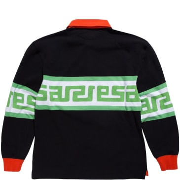 Aries Meandros Rugby Shirt - Black