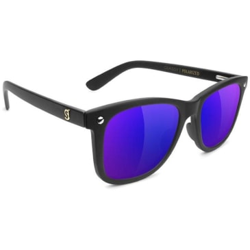 Glassy Mikemo Glasses - Polarized Black / Blue Mirror