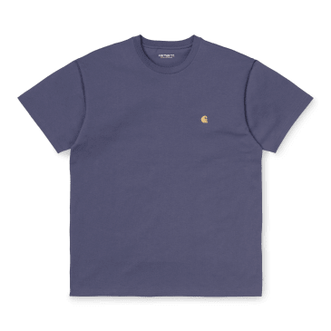 Carhartt WIP Chase T-Shirt - Cold Viola / Gold