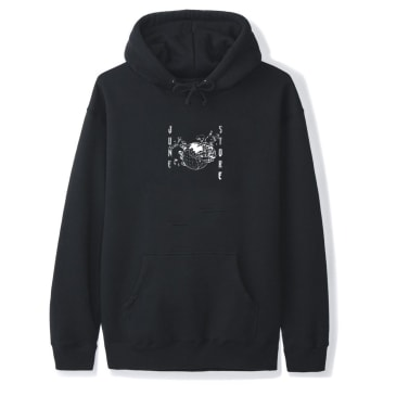 June - Hollow Earth Mens Hood - Black, White