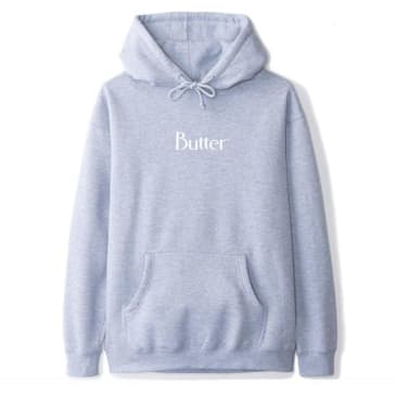Butter Classic Logo Pullover Hoodie - Heather Grey