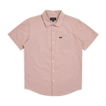 Brixton Charter Oxford Short Sleeve Shirt - Cameo Dusty Pink