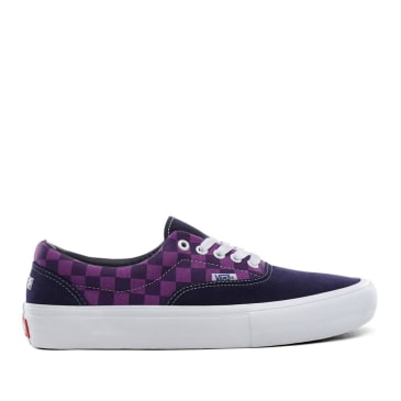 Vans x Baker Era Pro Skate Shoes - Kader / Purple Check