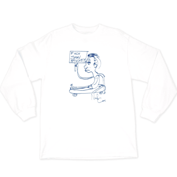 WKND - Fuck Johan Stuckey Long Sleeve Tee - White