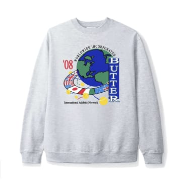 Butter Goods - Athletic Network Crewneck (Heather Grey)