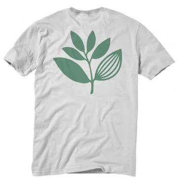 Magenta Plant T-Shirt - White / Green