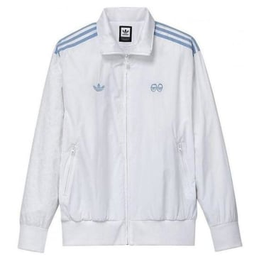ADIDAS X KROOKED TRACK JACKET - WHITE BLUE
