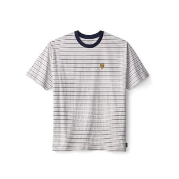 BRIXTON Hilt Melter Knit Tee Off White/Ash/Washed Navy