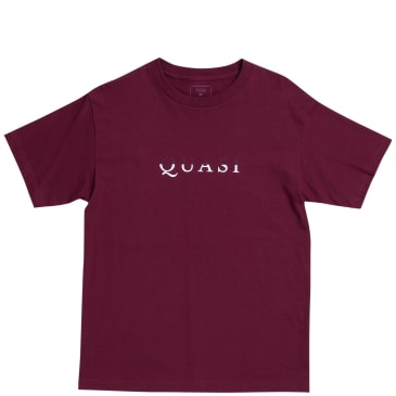 Quasi Wordmark T-Shirt- Burgundy