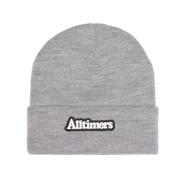 Alltimers Broadway Rubber Beanie - Grey