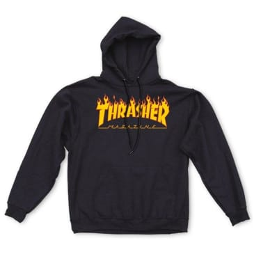 Thrasher Youth Flame Logo Hood (Black)