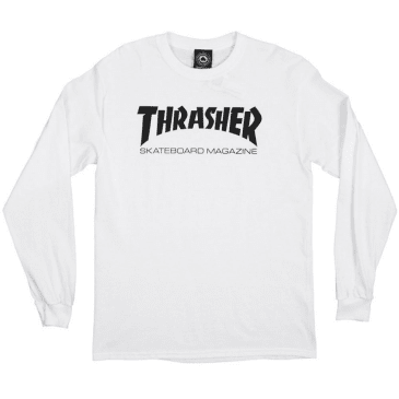 Thrasher - Long Sleeve Shirt (White)