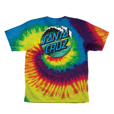 SANTA CRUZ Youth Wave Dot Tee Reactive Rainbow